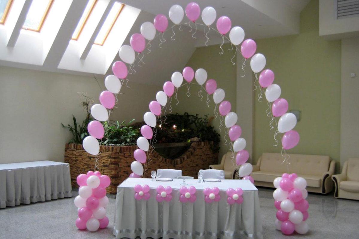 Как украсить шарами своими руками фото